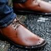 """【RAINFUBS】チャッカ型レインブーツ 雨の日の足元をお洒落に!""""本物の革靴""""のような風貌の防水レインシューズ♪"""