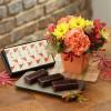 日比谷花壇 敬老の日 フラワーギフト&和菓子セットに感謝の気持ちを込めて♪