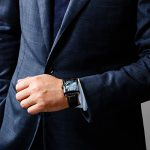 "【MINASE】腕時計「FIVE WINDOWS」限定復刻カラー""ブラックケース×ブルー文字盤"" 腕時計 レア アイテム"